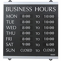 U.S. Stamp & Sign Century Series  inch;Business Hours inch; Sign, 14 inch;H x 13 inch;W
