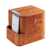 Safco; Bamboo Suggestion Box, 13 1/2 inch;H x 10 inch;W x 7 3/4 inch;D, Cherry