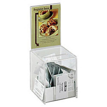 Safco; Small Acrylic Collection Box, 13 inch;H x 5 1/2 inch;W x 5 1/2 inch;D, Clear