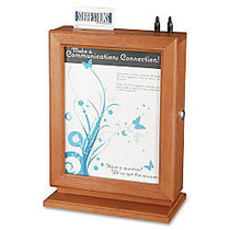 Safco; Wood Suggestion Box, 14 1/2 inch;H x 10 1/2 inch;W x 5 3/4 inch;D, Cherry
