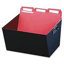 Steelmaster; 58% Recycled Posting Tub, Letter Size, Black