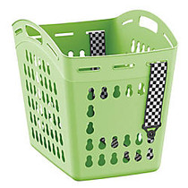 United Solutions Hands-Free Laundry Tote, 1.5 Bushel, Green Glow