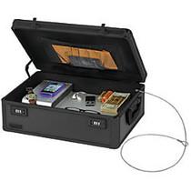 Vaultz; Locking Storage Chest, 5 5/8 inch;H x 18 inch;W x 13 inch;D, Black