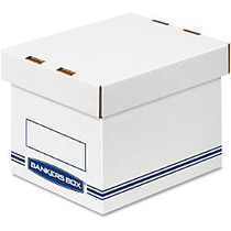 Bankers Box Organizers Small 12/ctn - External Dimensions: 6.3 inch; Width x 8.1 inch; Depth x 6.5 inch; Height - Medium Duty - Single/Double Wall - Stackable - White, Blue - For Storage - Recycled - 12 / Carton