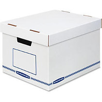 Bankers Box Organizers X-Large 12/ctn - External Dimensions: 12.8 inch; Width x 16.5 inch; Depth x 10.5 inch; Height - Medium Duty - Single/Double Wall - Stackable - White, Blue - For Storage - Recycled - 12 / Carton