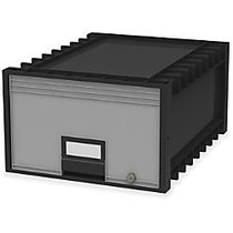 Storex Storage Case - External Dimensions: 18.3 inch; Length x 11.5 inch; Width x 24.4 inch; Height - Heavy Duty - Stackable - Black, Gray - For Storage - 1 Each