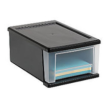 Office Wagon; Brand Small Stacking Drawer, Black/Clear