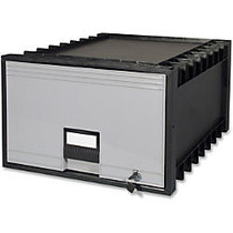 Storex Archive Drawer - External Dimensions: 18 inch; Width x 24 inch; Depth x 11.4 inch;Height - Media Size Supported: Legal - Stackable - Polypropylene - Black, Gray - For File - Recycled - 1 / Carton