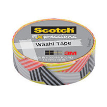 Scotch; Expressions Washi Tape, 5/8 inch; x 393 inch;, Wrapped
