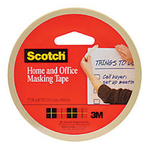 Scotch; Stationery Masking Tape, 3/4 inch; x 2160 inch;, Pack Of 3