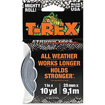 T-REX Duct Tape - 0.98 inch; Width x 30 ft Length - Polyethylene, Cloth - Durable - 1 Roll - Silver