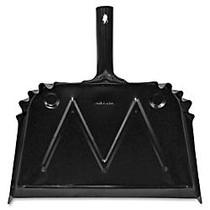 Genuine Joe Scope Dust Pan - 16 inch; Wide - Metal - Black