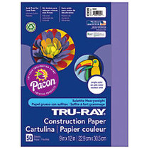Tru-Ray; 50% Recycled Construction Paper, 9 inch; x 12 inch;, Violet, Pack Of 50