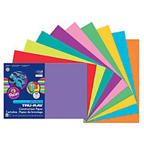 Tru-Ray; 50% Recycled Construction Paper, Assorted Colors, 12 inch; x 18 inch;, Pack Of 50 Sheets