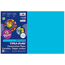 Tru-Ray; Construction Paper, 12 inch; x 18 inch;, 50% Recycled, Atomic Blue, Pack Of 50