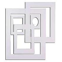 Pacon; Precut Mat Frames, White, Carton Of 60