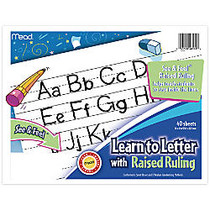 Academie Jr.™ See 'n Feel Learn To Letter Writing Tablet, 10 inch; x 8 inch;, 40 Sheets