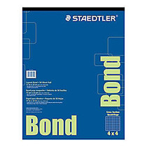 Staedtler; Bond Paper, 17 inch; x 22 inch;, White With Blue Grid, 50 Sheets