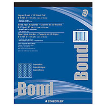 Staedtler; Isometric Bond Paper, 8 1/2 inch; x 11 inch;, Grid, 30 Sheets, White
