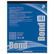 Staedtler; Nonphoto Cross-Section Drawing Paper, 10 x 10 Grid, 8 1/2 inch; x 11 inch;, 50 Sheets