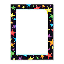 Trend Gel Stars Copy & Multipurpose Paper - Letter - 8.50 inch; x 11 inch; - 50 / Pack - Assorted, White