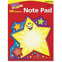 Trend Super Star Shaped Note Pad - 50 Sheets - Printed - 5 inch; x 5 inch; - Multicolor Paper - 1Pad