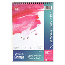 Winsor & Newton Cotman Spiral Watercolor Pads, 7 inch; x 10 inch;, 12 Sheets, Pack Of 2