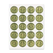 Geographics Embossed Notarial & Certificate Seals - 2 inch; Diameter - For Certificate, Note Card, Proposal - Golden