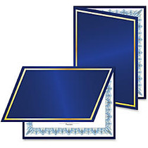 Geographics Felt Certificate Holder - Navy, Navy Blue - Recycled - 5 / Pack