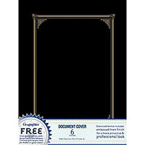 Geographics; 30% Recycled Document Covers, 9 3/4 inch; x 12 1/2 inch;, Black, Pack Of 6