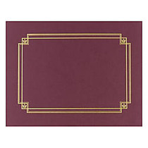 Great Papers! Linen Certificate Covers, 12 inch; x 9 3/8 inch;, Burgundy, Pack Of 3
