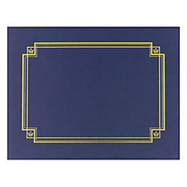 Great Papers! Linen Certificate Covers, 12 inch; x 9 3/8 inch;, Navy, Pack Of 3