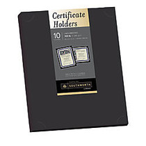 Southworth; Certificate Holders, 8 1/2 inch; x 11 inch;, Black, Pack Of 10