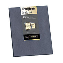 Southworth; Certificate Holders, 9 1/2 inch; x 12 inch;, Metallic Gray, Pack Of 10