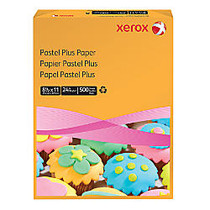 Xerox; Multipurpose Pastel Plus Paper, Letter Size Paper, 24 Lb, 30% Recycled, Gold, Ream Of 500 Sheets