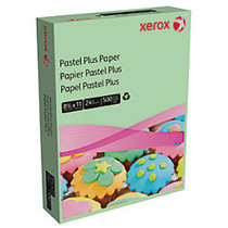 Xerox; Multipurpose Pastel Plus Paper, Letter Size Paper, 24 Lb, 30% Recycled, Green, Ream Of 500 Sheets