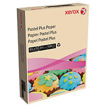 Xerox; Multipurpose Pastel Plus Paper, Letter Size Paper, 24 Lb, 30% Recycled, Ivory, Ream Of 500 Sheets