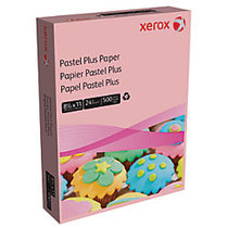 Xerox; Multipurpose Pastel Plus Paper, Letter Size Paper, 24 Lb, 30% Recycled, Pink, Ream Of 500 Sheets