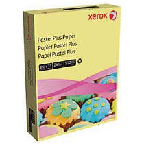 Xerox; Multipurpose Pastel Plus Paper, Letter Size Paper, 24 Lb, 30% Recycled, Yellow, Ream Of 500 Sheets