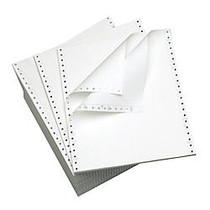 Office Wagon; Brand Computer Paper, 2 Parts, 15 Lb, 9 1/2 inch; x 11 inch;, Standard Perforation, Carbonless, White, Box Of 1,400 Sheets
