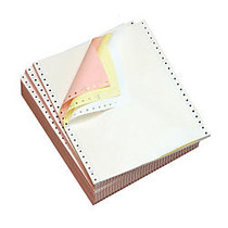 Office Wagon; Brand Computer Paper, 3 Parts, 15 Lb, 9 1/2 inch; x 11 inch;, Clean Edge, Carbonless, Multicolor, Box Of 500 Sheets