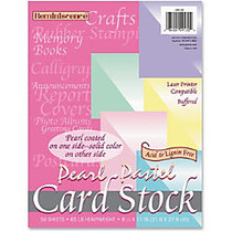 Pacon Reminiscence Card Stock - Letter - 8.50 inch; x 11 inch; - 65 lb Basis Weight - Pearl Pastel - 1 Pack - Pink, Green, Canary, Blue, Lilac