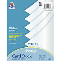 Pacon; Card Stock, Letter Paper Size, 65 Lb, White, 100 Sheets