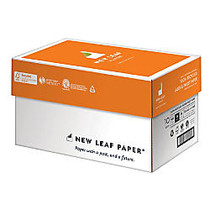 New Leaf; Premium Laser And Inkjet Paper, 8 1/2 inch; x 11 inch;, 24 Lb, 100% Recycled, 500 Sheets Per Ream, Case Of 5 Reams