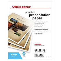 Office Wagon; Brand Double-Sided Presentation Paper, Matte, 8 1/2 inch; x 11 inch;, 32 Lb, Pack Of 100 Sheets