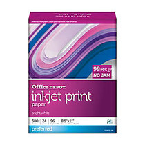 Office Wagon; Brand Inkjet Print Paper, 8 1/2 inch; x 11 inch;, 24 Lb, 30% Recycled, Ream Of 500 Sheets