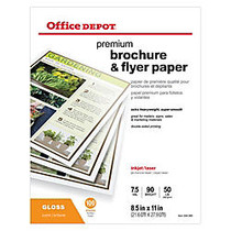 Office Wagon; Brand Professional Brochure And Flyer Paper, Glossy, 8 1/2 inch; x 11 inch;, 50 Lb, Pack Of 100 Sheets