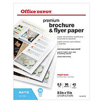 Office Wagon; Brand Professional Brochure And Flyer Paper, Matte, 8 1/2 inch; x 11 inch;, 45 Lb, Pack Of 150 Sheets