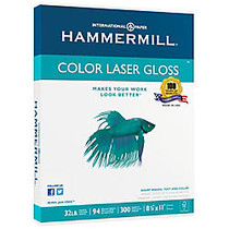 Hammermill; Color Gloss Laser Paper, 8 1/2 inch; x 11 inch;, 32 Lb, Pack Of 300 Sheets