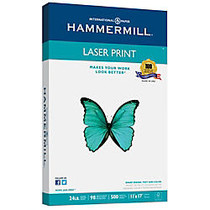 Hammermill; Laser Paper, 11 inch; x 17 inch;, 24 Lb, Pack Of 500 Sheets